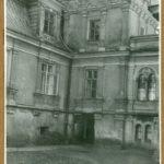 Fregment elewacji pałacu od str. podjazdu, 1961 r.
