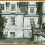 Fregment elewacji ogrodowej pałacu, 1961 r.