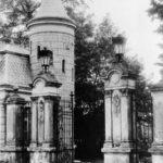 Główna brama wjazdowa do parku, początek XX w.