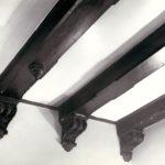 Jadalnia pałacowa, fragment stropu; fot. K. Kowalska, 1977 r. Arch. Mazowieckiego Wojewódzkiego Konserwatora Zabytków