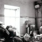 Dawna łazienka w wieży wschodniej; fot. K. Kowalska, 1977 r. Arch. Mazowieckiego Wojewódzkiego Konserwatora Zabytków