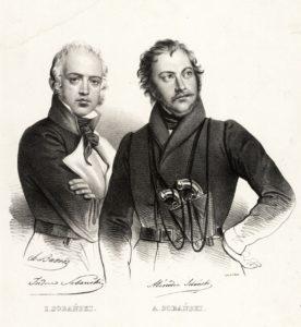 Izydor.Aleksander.Sobanscy.Lith. de Villain.Paris.1832-1837.zb.Bibl.Narod