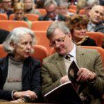 Maria Osterwa-Czekaj (wnuczka Pawła ks. Sapiehy) i Piotr Piniński (przezes Fundacji im. Lanckorońskich); Muzeum Narodowe Ziemi Przemyskiej 13. 05. 2017
