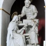 """""""Święta Rodzina""""-rzeźba Ferdynanda Palla w ołtarzu głównym w kościele św. Augustyna w Warszawie; fot. P. Jamski"""