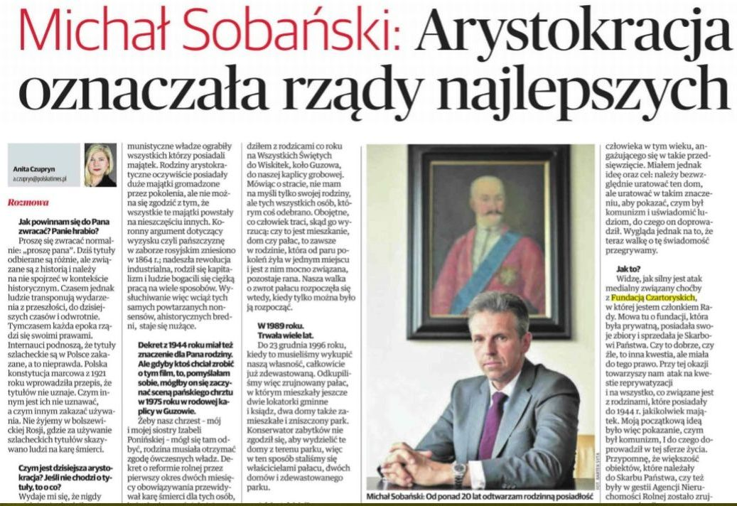 Arystokracja Polska The Times