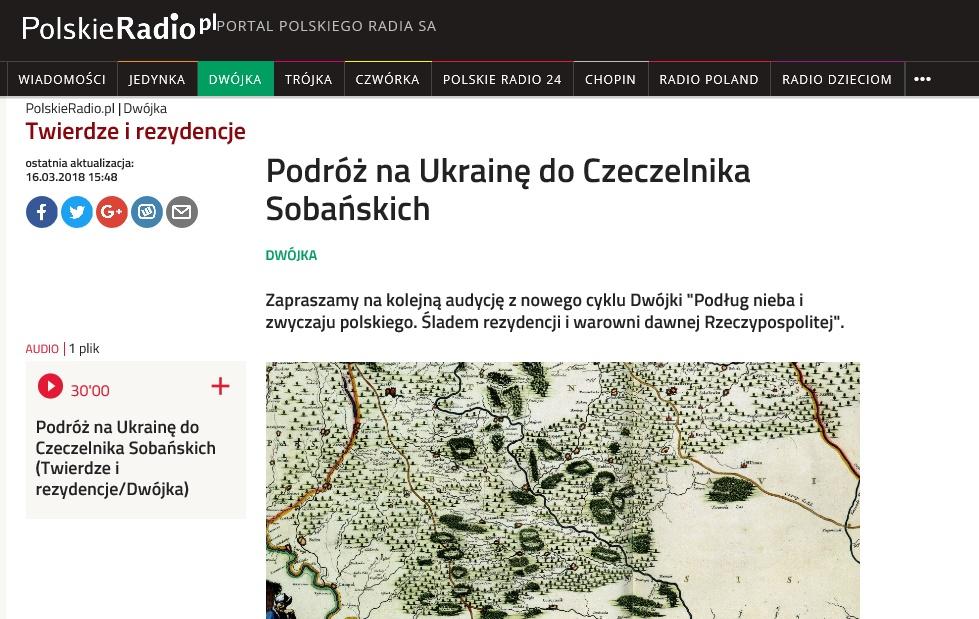 Czeczelnik Sobanskich Polskie Radio 2