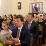 W pierwszej ławce: Zofia i Felix Sobańscy, w drugiej ławce: Renata i Michał Sobańscy, 15.09.2018