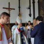 Bp Leon Dubrawski święci kaplicę