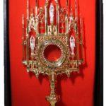 Neogotycka monstrancja - dar Michała Sobańskiego dla kaplicy w Czeczelniku