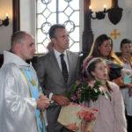 Michał i Elżbieta Sobańscy z córką Zofią; pierwszy z lewej Andrzej Moes