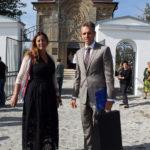 Elżbieta i Michał Sobańscy przed czeczelnicką kaplicą