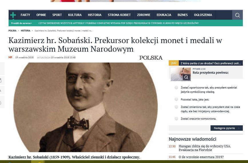 Kaz.Sobanski.prekursor kolekcji monet