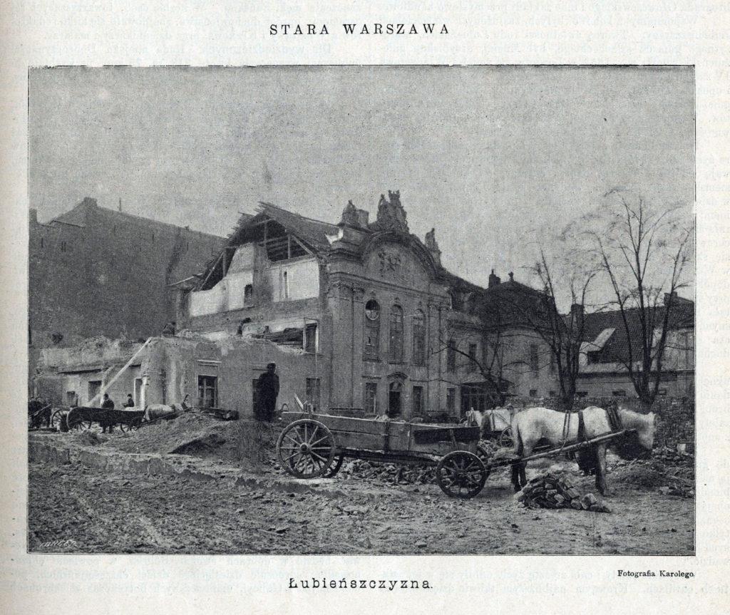 005_Lubienszczyzna.rozbiorka.palacu.Biesiada Literacka. T. 42. 1896 nr 31 s. 73